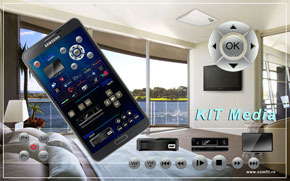 Kit Media - control AV-TV prin Android, iPhone